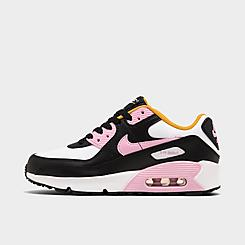 Girls' Big Kids' Nike Air Max 90 Casual Shoes