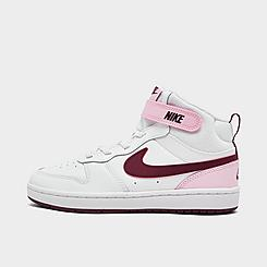 Girls' Little Kids' Nike Court Borough Mid 2 Casual Shoes