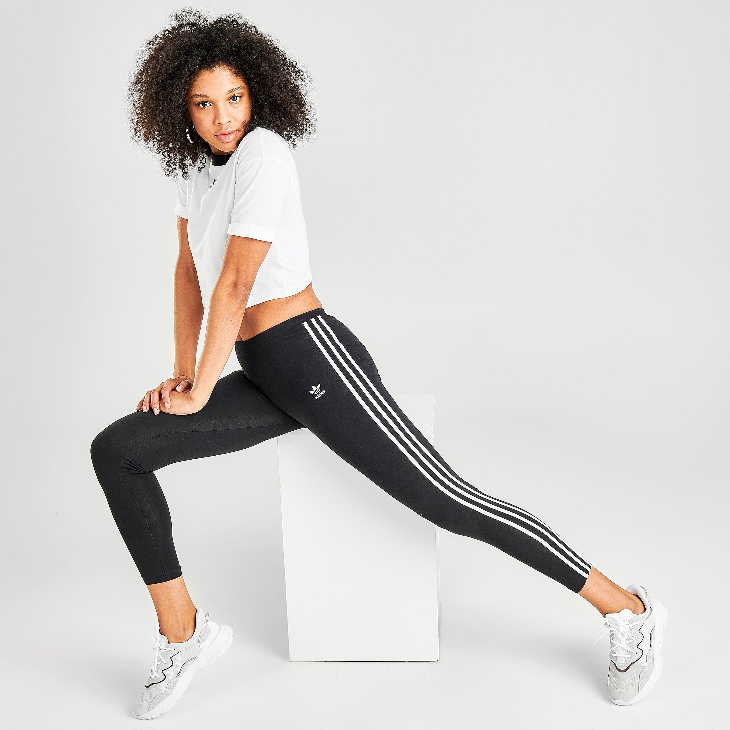 3 stripes adidas leggings