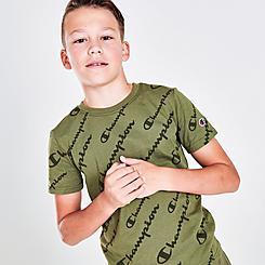 Boys' Champion Allover Print Script T-Shirt