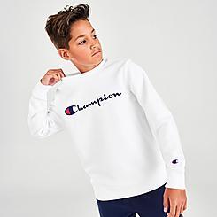 Kids' Champion Script Crewneck Sweatshirt