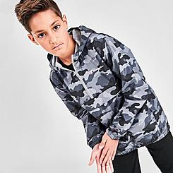 Kids' Champion Allover Camo Print Windbreaker Jacket
