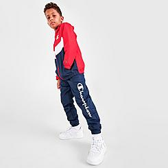 Boys' Little Kids' Champion Logo Colorblock Windbreaker and Track Pants Set