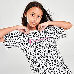 Girls' Champion Allover Leopard Print Script Logo T-Shirt