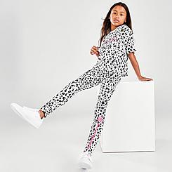 Girls' Champion Leopard Print Script Leggings
