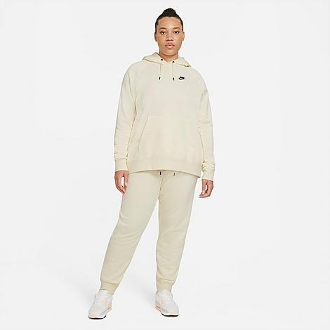 Nike Women's Sportswear Essential Jogger Pants (Plus Size) in Off-White/Coconut Milk Size 2X-Large Cotton/Polyester/Fleece Soft and warm brushed back fleece Side pockets for convenient storage Elastic waistband with drawcord 80% cotton, 20% polyester blend material Slightly relaxed fit Machine wash The Nike Sportswear Jogger Pants (Plus Size) are imported. Cozy comfort and low-key style make the Women's Nike Sportswear Essential Jogger Pants (Plus Size) an everyday essential. Boasting jogger-style cuffs and ultra-soft fabric, these pants take you from sweat sessions to coffee dates with ease. Size: 2X-Large. Color: Off-White. Gender: female. Age Group: adult. Material: Cotton/Polyester/Fleece. Nike Women's Sportswear Essential Jogger Pants (Plus Size) in Off-White/Coconut Milk Size 2X-Large Cotton/Polyester/Fleece