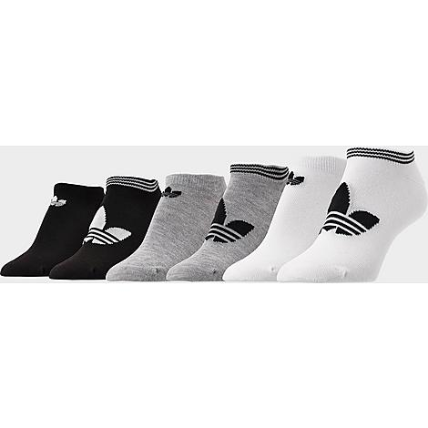 Adidas Women's Originals 6-Pack No-Show Socks in White/Black/Black Size Medium Cotton Get casual comfort and iconic style with the Women's adidas Originals 6-Pack No-Show Socks. 6 pair adidas Originals Trefoil logo for style No-show design stays put Breathable cotton blend material with strategic cushioning zones Machine wash The adidas Originals 6-Pack No-Show Socks are imported. Size: Medium. Color: White/Black. Gender: female. Age Group: adult. Adidas Women's Originals 6-Pack No-Show Socks in White/Black/Black Size Medium Cotton