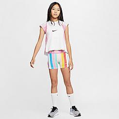 Girls' Nike Pro Striped Boyshorts