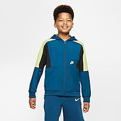 Boys' Nike Sportswear Woven Colorblock Full-Zip Wind Jacket