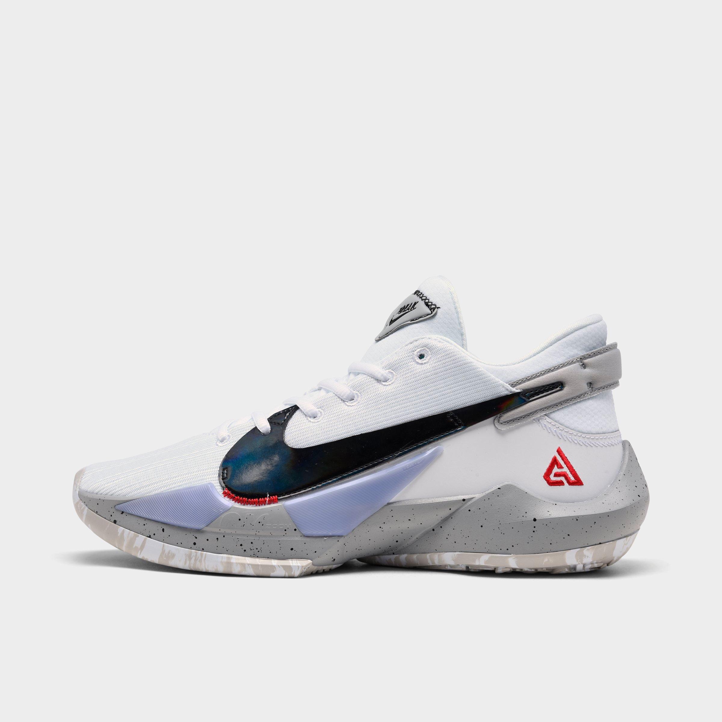 Nike Men's Zoom Freak 2 Basketball Shoes in White Size 8.5 ...