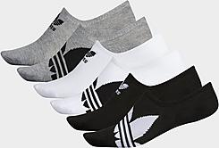 Men's adidas Trefoil 6-Pack Footie Socks