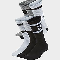Kids' Nike Everyday Cushioned Crew Socks (6-Pack)