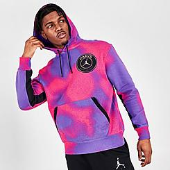 Men's Jordan Paris Saint-Germain Tie-Dye Printed Fleece Hoodie