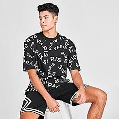 Men's Jordan Paris Saint-Germain Allover Print Jock Tag T-Shirt