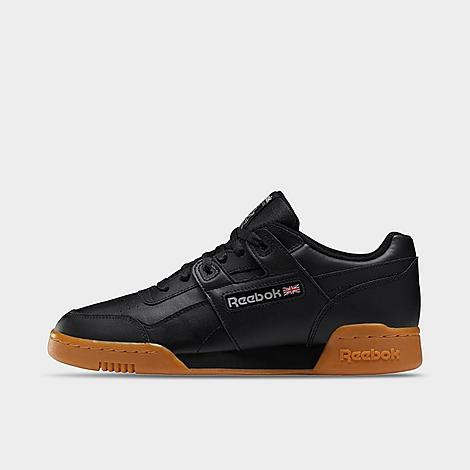 Reebok Men's Workout Plus Casual Shoes in Black/Black Size 9.0 Leather Supple full-grain leather upper for premium comfort Low-cut design for ankle mobility and an increased range of motion Leather overlays for added durability Iconic H-strap overlay EVA foam midsole provides shock absorption High abrasion rubber outsole for durable traction The Reebok Workout Plus is imported Reebok is taking casual shoes to the next level with the Men's Reebok Workout Plus Casual Shoes. With a minimalistic design and classic Reebok tooling, this model is focused on all-around comfort. Size: 9.0. Color: Black. Gender: male. Age Group: adult. Reebok Men's Workout Plus Casual Shoes in Black/Black Size 9.0 Leather