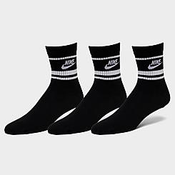 Nike Sportswear Essential Throwback Crew Socks (3-Pack)