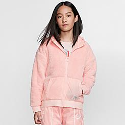 Girls' Nike Sportswear Sherpa Full-Zip Jacket