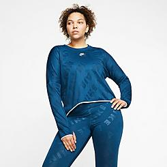 Women's Nike Air Midlayer Crew Training Top (Plus Size)