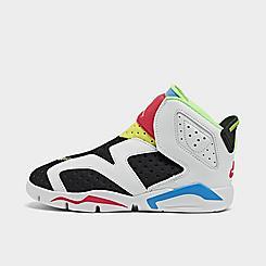 Little Kids' Air Jordan Retro 6 Little Flex Basketball Shoes