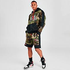 Men's Jordan Mashup Jumpman Classics Camo Fleece Shorts