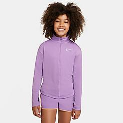 Girls' Nike Half-Zip Long-Sleeve Running Top