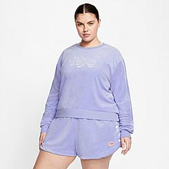 Women's Nike Sportswear Terry Crewneck Sweatshirt (Plus Size)