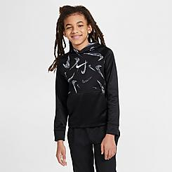 Boys' Nike Therma Printed Pullover Training Hoodie