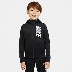 Boys' Nike Therma Graphic Training Full-Zip Hoodie