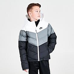 Kids' Nike Sportswear Chevron Colorblock Puffer Jacket