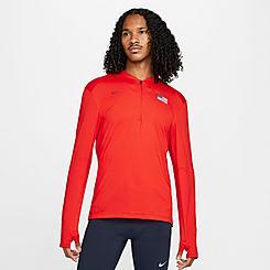 Men's Nike Dri-FIT Team USA Element Half-Zip Running Top