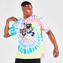 Men's Nike Peace, Love, Basketball Tie-Dye T-Shirt