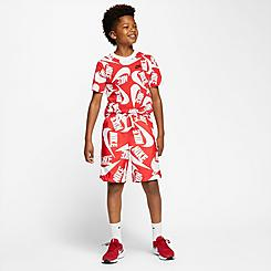 Boys' Nike Sportswear Allover Print Woven Swim Shorts