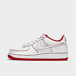 Big Kids' Nike Air Force 1 Stitch Casual Shoes