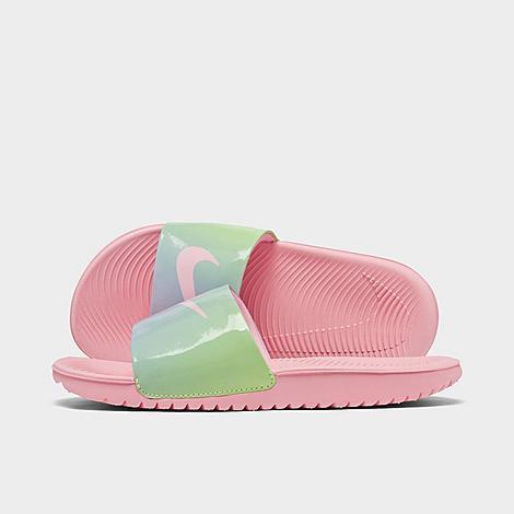 Nike NIKE GIRLS' BIG KIDS' KAWA SE2 TIE-DYE SLIDE SANDALS