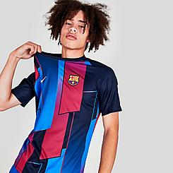 Men's Nike FC Barcelona Pre-Match Short-Sleeve Soccer Top