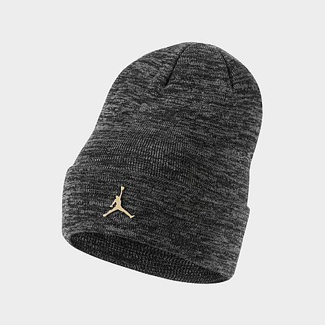 Soft knit material with stretchy yarns for breathable comfort Metallic Jumpman logo along the folded cuff for a classic, sporty style 100% acrylic Machine wash The Jordan Jumpman Metal Cuffed Beanie Hat is imported. Complete your \\\'fit with the Jordan Jumpman Metal Cuffed Beanie Hat. Sporting the iconic logo for a brand-repping look, this soft beanie is the perfect way to stay comfortable and warm in style. Size: One Size. Color: Grey. Gender: unisex. Age Group: adult. Material: Acrylic/Knit. Jordan Jumpman Metal Cuffed Beanie Hat in Grey Acrylic/Knit