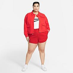 Women's Nike Sportswear Essential French Terry Shorts (Plus Size)