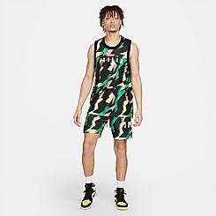 Men's Jordan Jumpman Air Allover Print Mesh Shorts