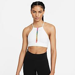 Women's Nike Dri-FIT Indy Rainbow Ladder Light-Support High-Collar Sports Bra