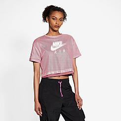 Women's Nike Sportswear Air Mesh Short-Sleeve Top