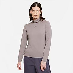 Women's Nike Sportswear Swoosh Long-Sleeve Mock Neck Shirt