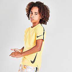 Kids' Nike Wild Run Swoosh Instacool Training T-Shirt