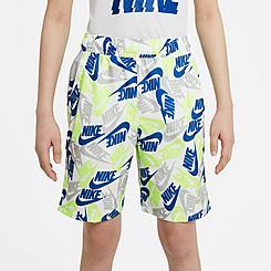 Boys' Nike Sportswear Printed Woven Shorts