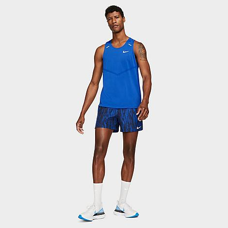 Nike Men's Challenger Wild Run Running Shorts in Blue/Obsidian Size Small Polyester