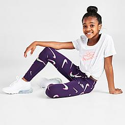 Girls' Nike Sportswear Favorites Swooshfetti Leggings