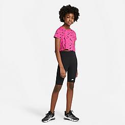 Girls' Big Kids' Nike Essential High-Rise Bike Shorts