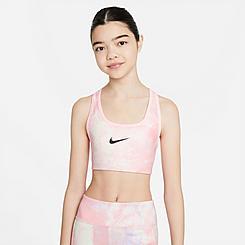 Girls' Nike Swoosh Tie-Dye Reversible Sports Bra - Medium Support