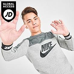 Boys' Nike Sportswear Hybrid Fleece Crewneck Sweatshirt
