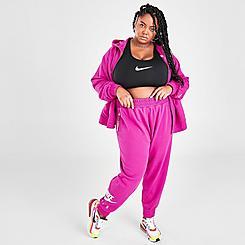 Women's Nike Air Cropped Fleece Jogger Pants (Plus Size)