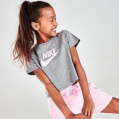 Girls' Nike Sportswear Cropped Futura T-Shirt